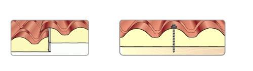 Сглобяване на покривни сандвич панели тип керемида